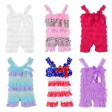 Sweet Toddler Baby Girls Kids Ruffle Romper Jumpsuit Dress Outfit Straps Clothes