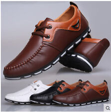 Men Business Driving moccasin-gommino Leather Loafer Lace Up Pumps Dress Shoes