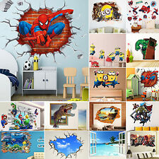 3D Decor Removable Wall Sticker DIY Mural Art Decal Home Kids Bedroom Decoration