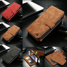 Genuine Leather Case Removable Wallet Card Flip Cover for Apple iPhone 6 6S Plus