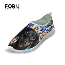 Ladies Animal Design Casual Shoes Fashion Slip On Mesh Breathable Running Shoes
