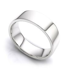 925 Sterling Silver Womens Mens 6mm Flat Wedding Band Ring  All Sizes
