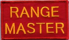 RANGE MASTER Firearms Instructor Patch w Hook Fastener Backing 3 Sizes Free Ship