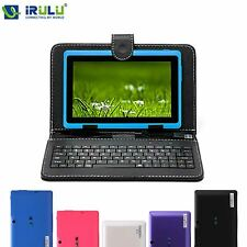 New iRULU HD WIFI Tablet PC with Keyboard 8GB Android 4.4 Quad Core 1024x600
