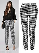 TOPSHOP Gingham Cigarette Trousers NEW in Size 6 to 16