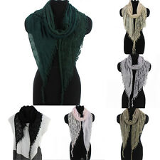 Paisley Print Floral Scarf Lace Fringed Soft Long Scarf Womens Scarf Wrap Shawl