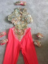 Freestyle Dance Costume Outfit. U12 U14 Covered In Stones