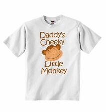 Daddy's Cheeky Little Monkey - New Baby T-shirt Tees Clothing for Boys, Girls