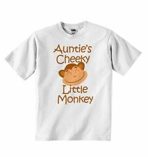 Auntie's Cheeky Little Monkey - New Baby T-shirt Tees Clothing for Boys, Girls