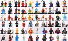 Super Hero Marvel Dc comic Starwars Minifigure choose your love set 4 fit Lego