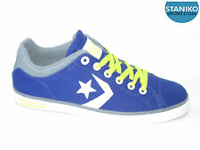 Mens CONVERSE STAR STREET OX Blue Canvas Trainers 145082F