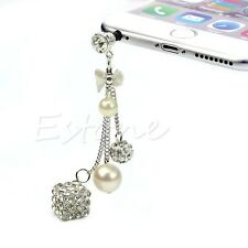 Crystal 3.5mm Jack Anti Dust Earphone Plug Cap Stopper For iPhone 6 Samsung LG