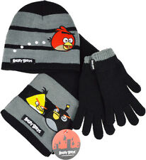 Boys Angry Birds 3pc Winter Hat Glove and Scarf Set