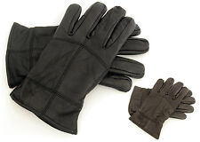 laylawson® - Mens 40 gram Thinsulate lined Leather Gloves Winter Thermal Gloves