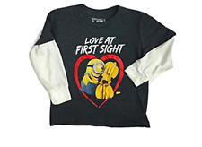 Toddler boys top long sleeve tee Star wars minions red black Twofer 12M to 4T