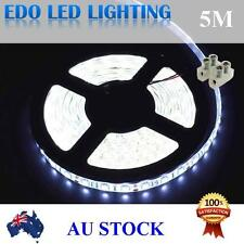 Waterproof Cool White DC 12V 5M 5050 SMD 300 Leds LED Strip Light Car+Connector