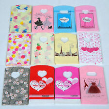 Cute Pattern Plastic Bags Jewelry Handbag Shopping Bags Packing Gift Bag 60PCS