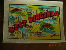 State of West Virginia Map Decal - Vintage