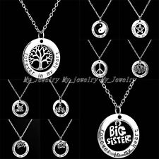 Charm Fashion Hot Party Family Member Words Forever In My Heart Pendant Necklace