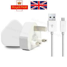 Genuine CE for Samsung Galaxy S5 S6 Mains Wall Charger +Micro USB Cable UK