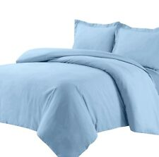600 Thread Count Combed Cotton Sateen Weave Solid Duvet Cover Set- All Colors