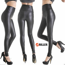 Women Black Skinny Sexy Women's Ladies Pants Faux Leather Stretchy Slim Leggings