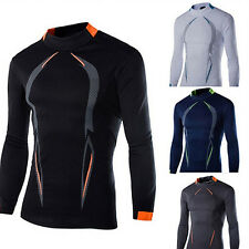 Men Long Sleeve Tight Casual T-shirt Sport Clothes Quick Drying Tops Exquisite