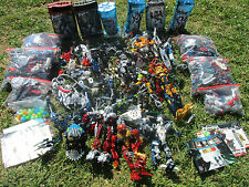HUGE LOT LEGO BIONICLE 15 LBS POUNDS PARTS HEADS MASKS WEAPONS