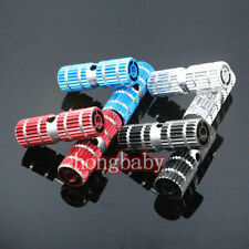 """2pcs Cycling BMX Bike Bicycle Cylinder Aluminum Alloy 3/8"""" Axle Foot Pegs"""