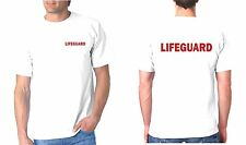 Lifeguard Tee Shirt, T Shirt, T-Shirt  T Crest Front / Full Back, NO CROSS White