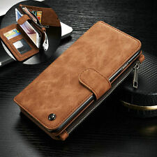 Genuine Leather Case Removable Wallet Card Flip Cover For Apple iPhone SE 5G 5S