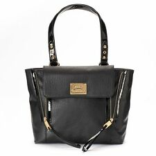 NEW! Juicy Couture Pashli Large Shopping Tote Purse Bag - Black / Rainbow Pewter