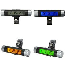 Car Auto Dashboard Clip-on Digital LCD Backlight Thermometer Time Clock Calendar