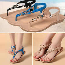 Fashion Women Sandals Casual Flat Shoes Ladies Summer Beach Open Toe Flip Flops