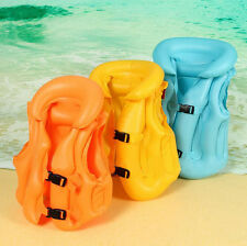 Hot Safety Children Kids Swimming Aid Inflatable Floating Life Jacket Vest