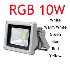 12V 85-265V 10W LED Flood light Waterproof  Outdoor lights bule green red yellow