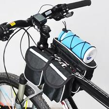 Cycling Bicycle front Frame Pannier Saddle Tube Bag Double Pouch Holder outdoor