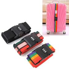 Adjustable Luggage Suitcase Straps Baggage Belt Travel Tie Down Combination Lock