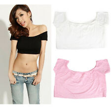 Sexy Women Hip-hop Style Midriff-baring T-shirt Club Party Dancing Crop Top