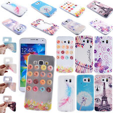 For Samsung Galaxy Silicone Skin Cover Glossy Pattern Painted TPU Soft Case