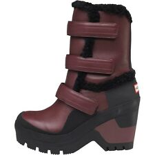 Hunter original Space Shearling Wedge Winter Snow Boots - rrp £250