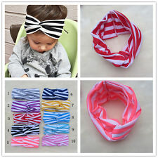 Lot Newborn Baby Toddler Girl Kid Bow stripe headband Hair Band headbands
