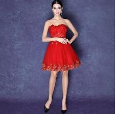 Red Short Homecoming Dresses Evening Wedding Formal Bridesmaid Dresses Prom Gown