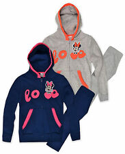 Girls Disney Minnie Mouse Tracksuit New Kids Hoodie & Joggers Age 3-8 Years UK