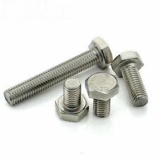 A2 Stainless Steel Fully Thread Hexagon Head Set Screw Bolts in M4 M5 M6 M8 M10