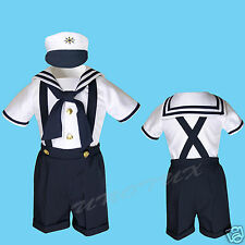 NEW Baby Boy & Toddler Sailor Formal Party Suit Outfits NAVY SZ: S,M,L 2T 3T 4T