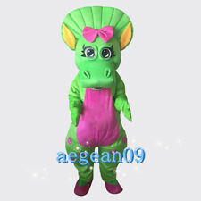 Green Barney animal professional selling Mascot Costume fancy dress high quality