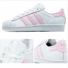 ADIDAS SUPERSTAR WHITE & BABY PINK LIMITED STOCK BRAND NEW IN BOX BA7683