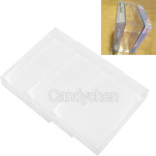 3Pcs Clear Plastic Protectors Sleeves Box For Nintendo N64 NES SNES Game Cases