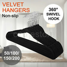 Coat Hangers Flocked Velvet Nonslip Coat Clothes Closet Slim Thin 50 - 200 NEW